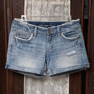 American Eagle Outfitters Denim With Lace Shorts